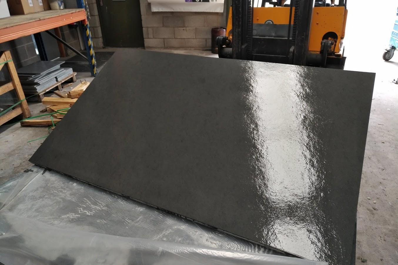 riven slate hearth